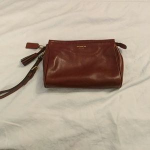 Classic Coach Leather Wristlet